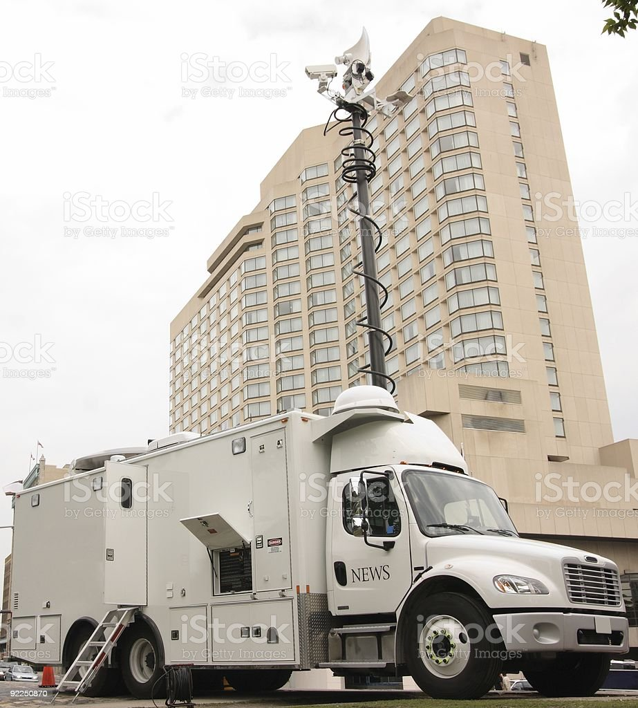 News Media Truck stock photo