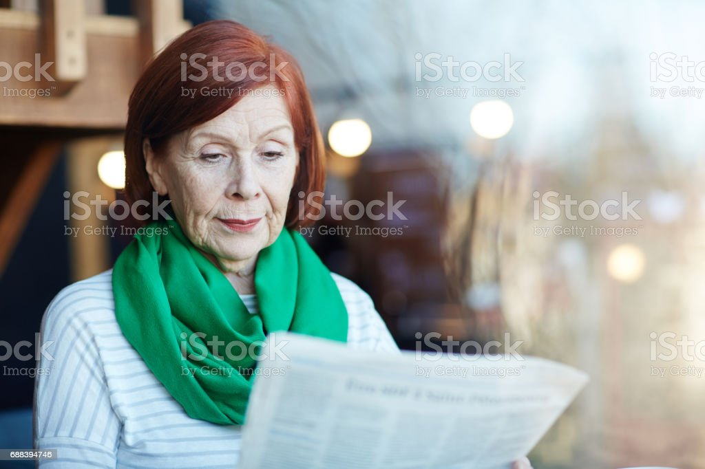 News of the day stock photo