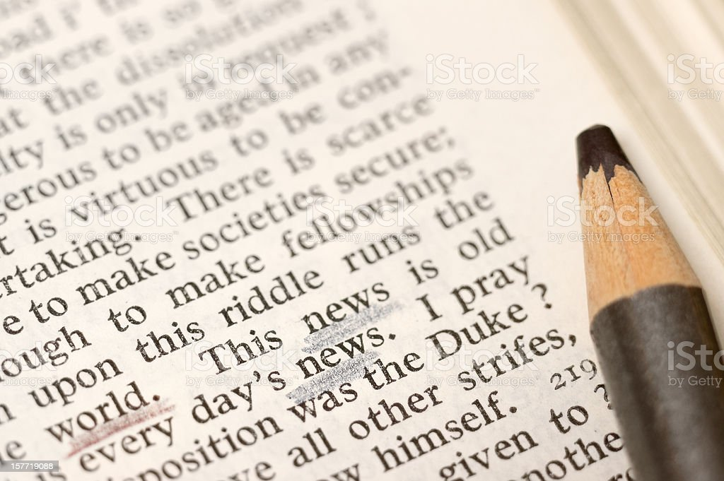 News of the world according to Shakespeare stock photo