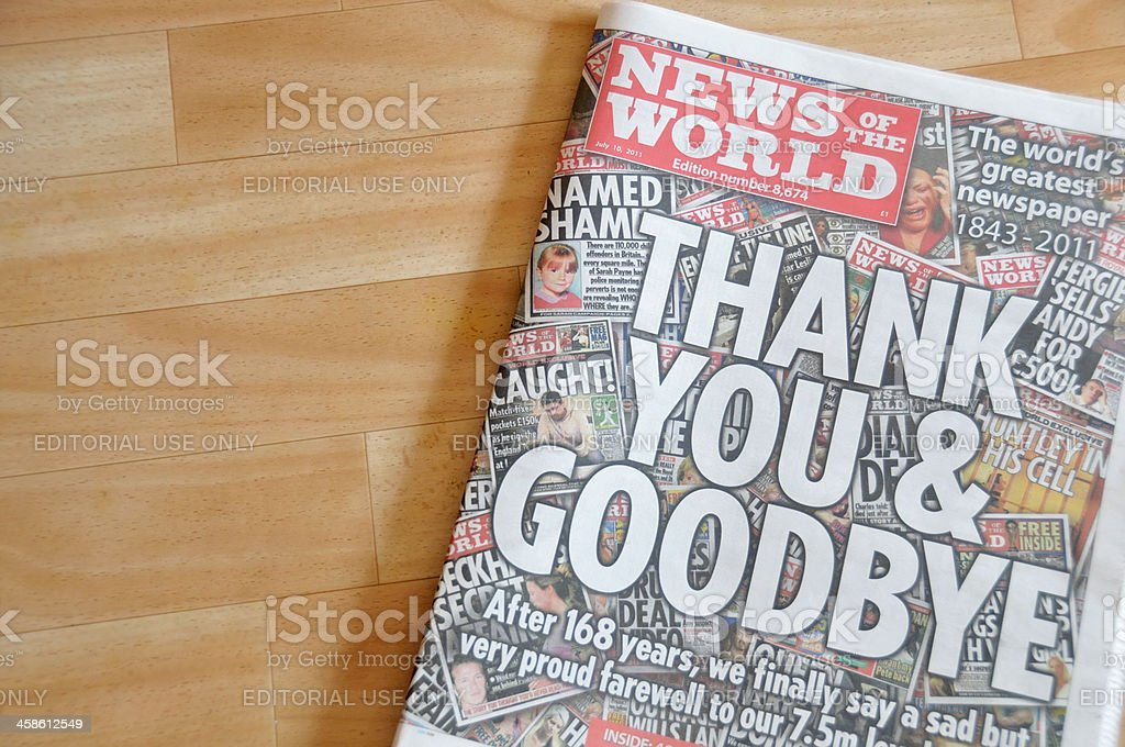 News of the World stock photo