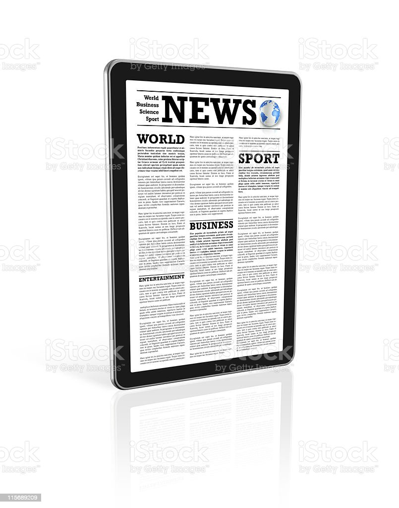 News on a digital tablet royalty-free stock photo