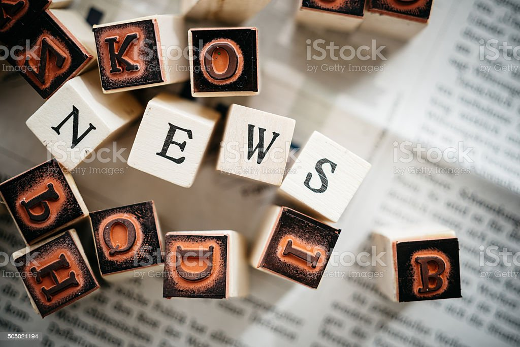 News on a newspaper. stock photo