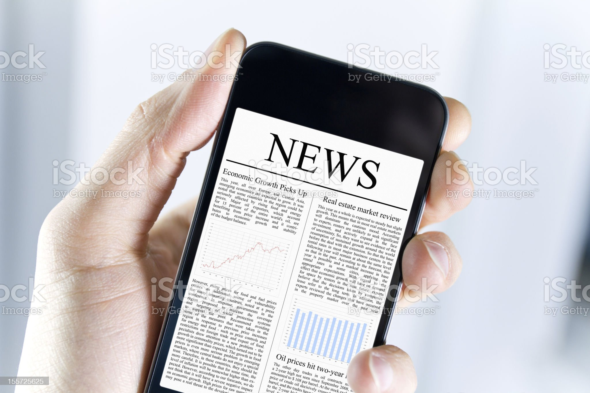 News On Mobile Phone royalty-free stock photo