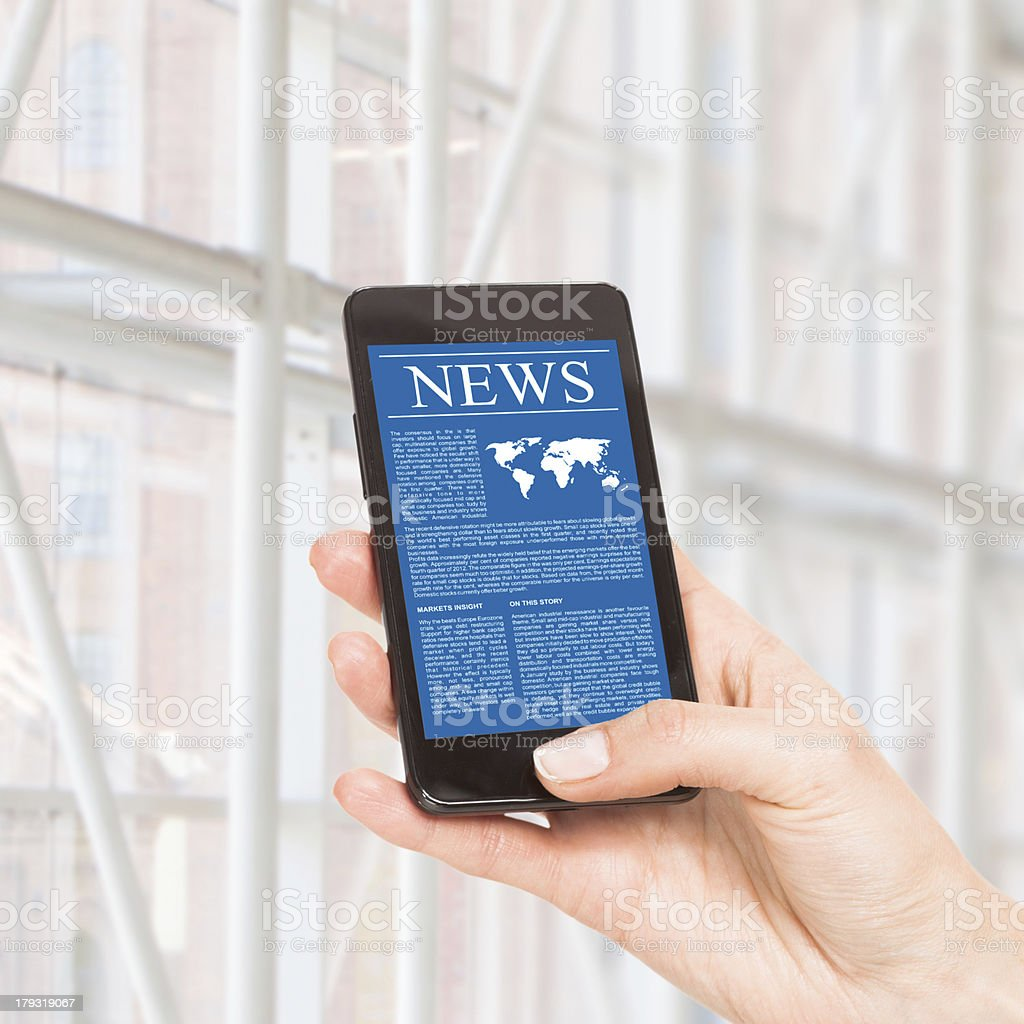News on mobile phone, smartphone. royalty-free stock photo