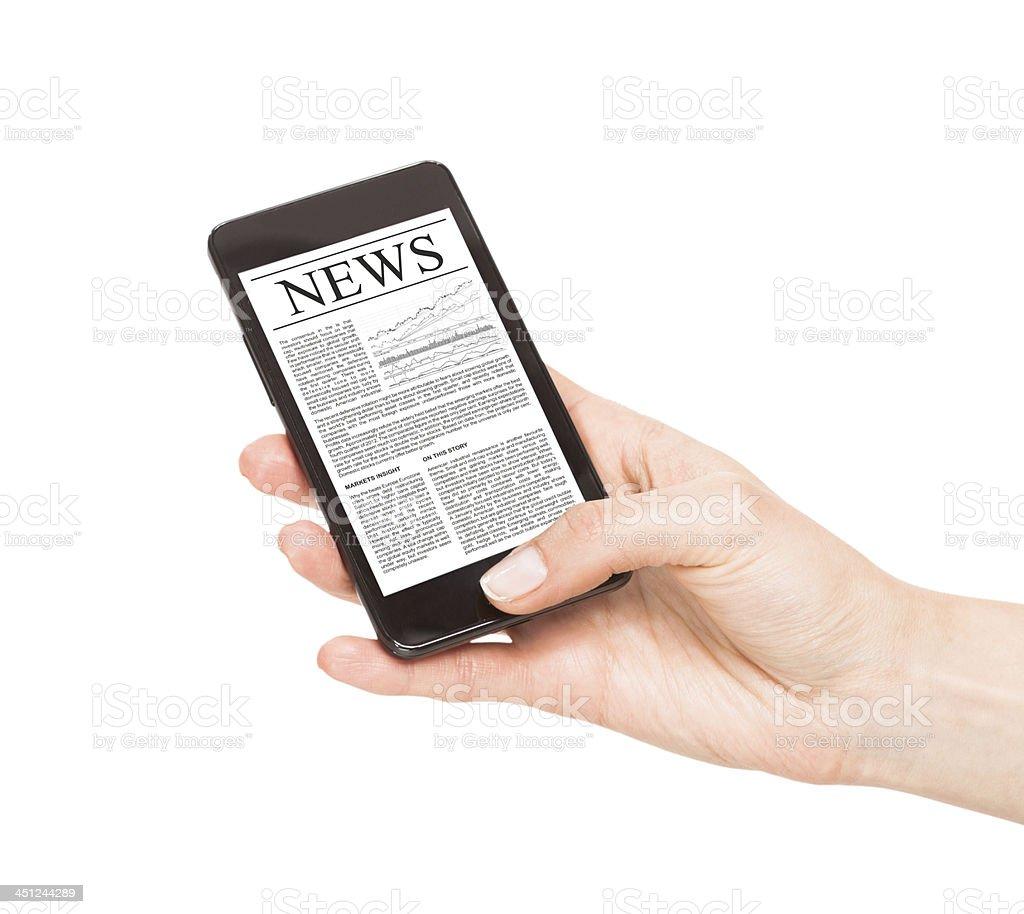 News on mobile phone, smartphone. stock photo