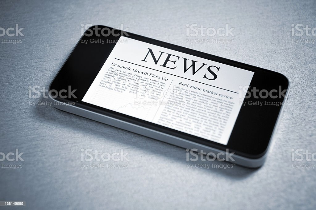 News On Mobile Smartphone royalty-free stock photo