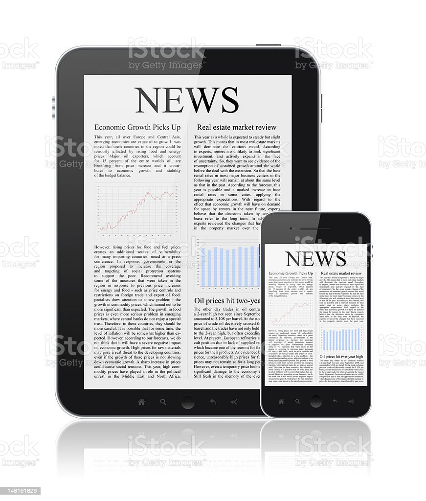 News On Modern Digital Devices royalty-free stock photo