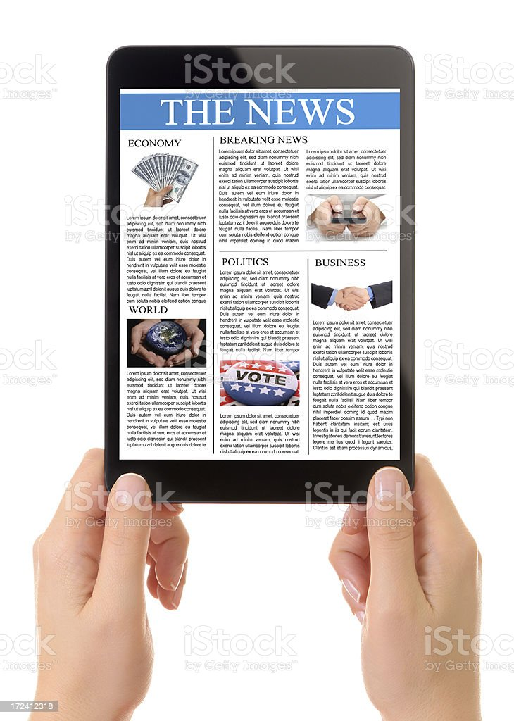 News on tablet pc royalty-free stock photo