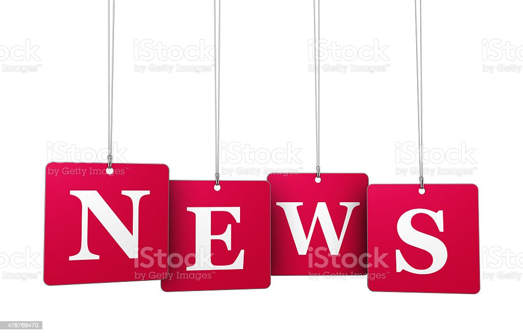 News On Tags stock photo