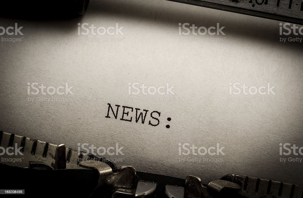 News on typewriter royalty-free stock photo