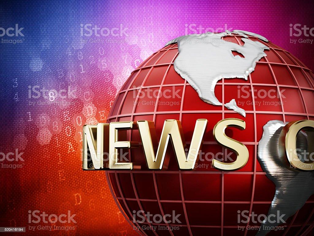 News opener screen stock photo