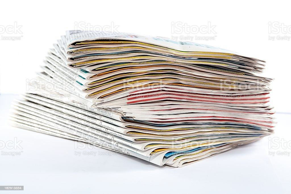 news paper stack royalty-free stock photo