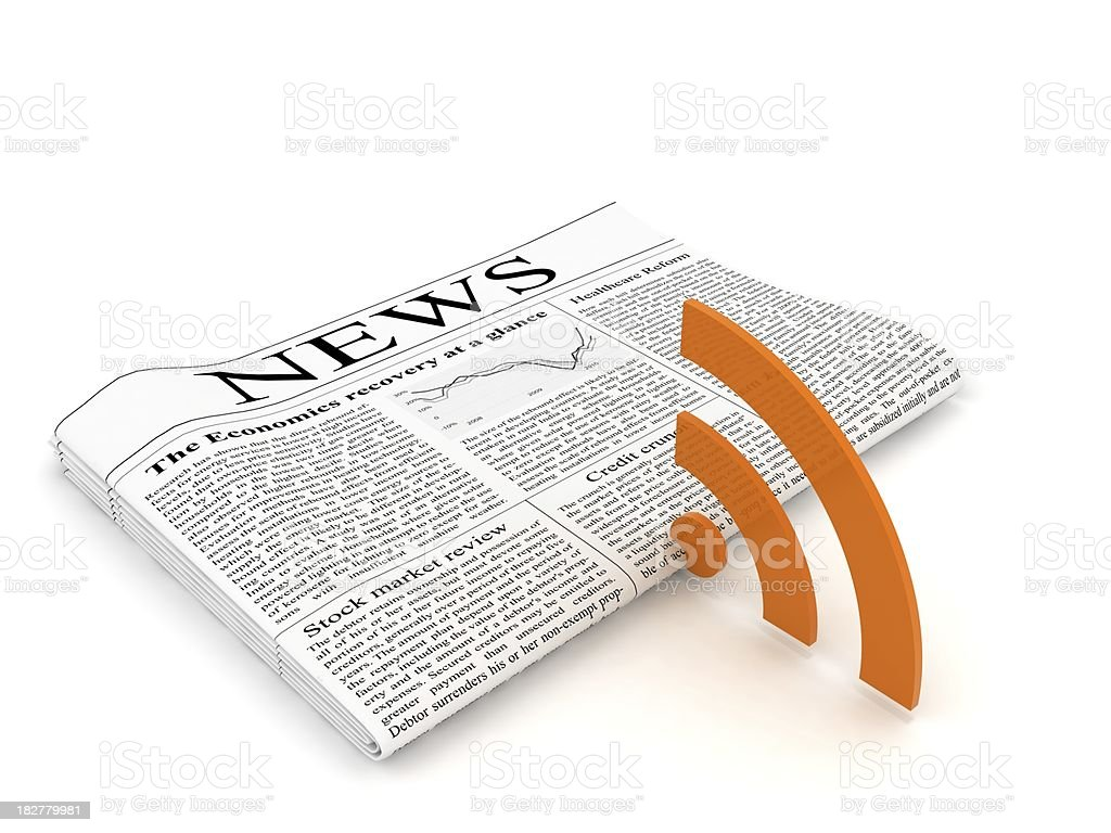 RSS News royalty-free stock photo