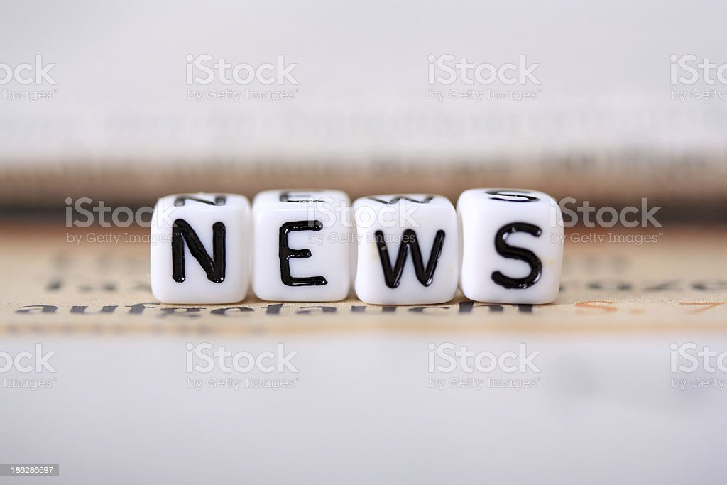 News, Neuigkeiten royalty-free stock photo
