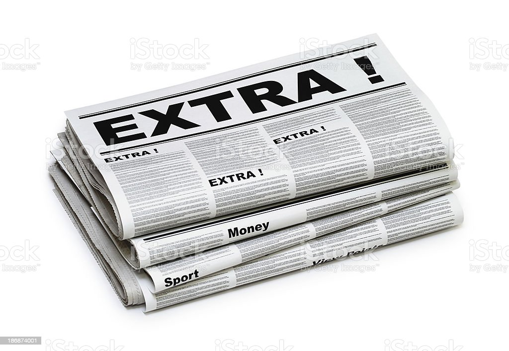 EXTRA News royalty-free stock photo