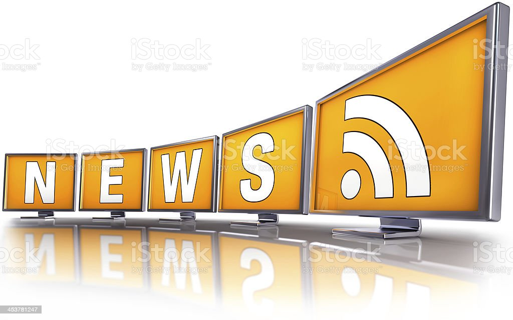 RSS news stock photo
