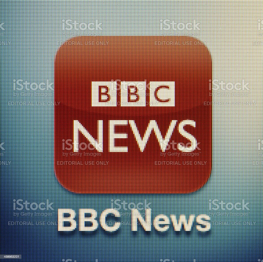 BBC News royalty-free stock photo