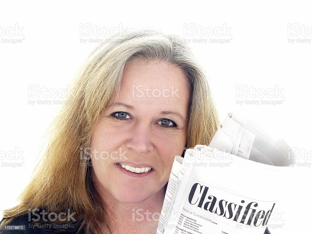news series  - the classifieds royalty-free stock photo