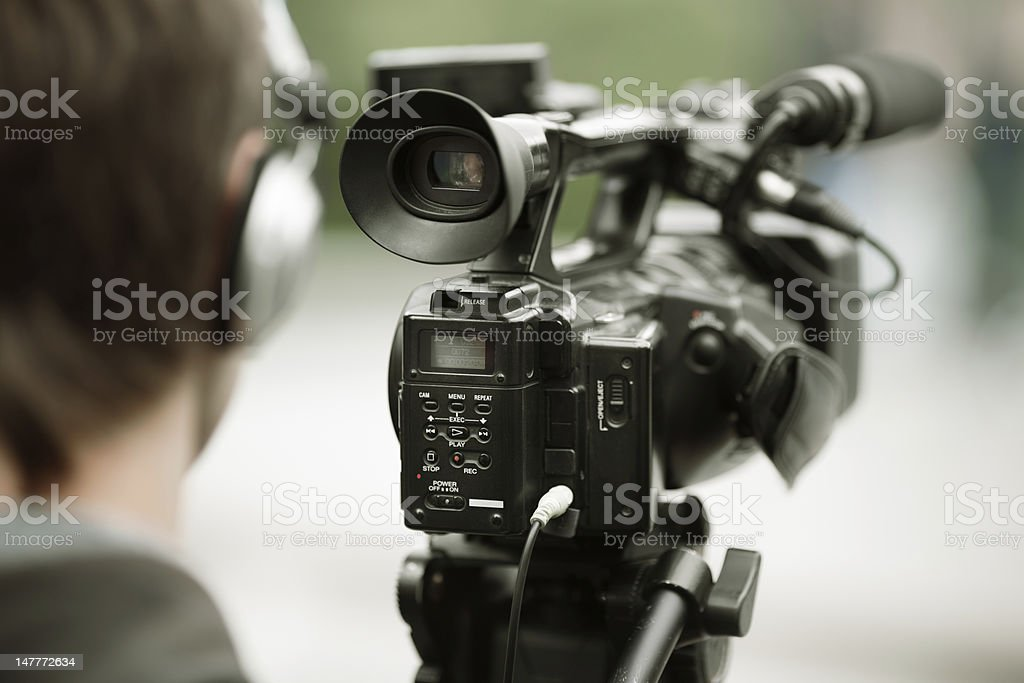 news shooting stock photo
