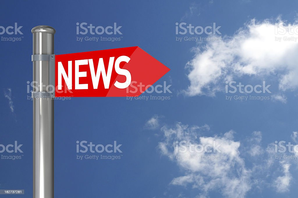 News Sign royalty-free stock photo