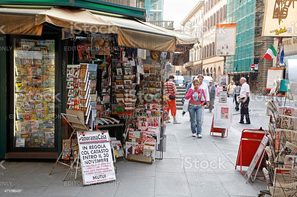 News Stand Florence Italy royalty-free stock photo