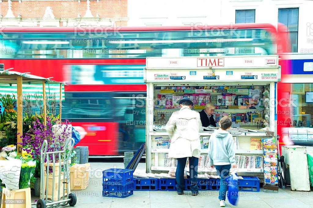 News Stand, London, UK stock photo