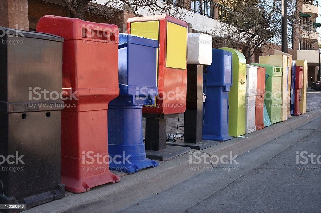 News Stands royalty-free stock photo