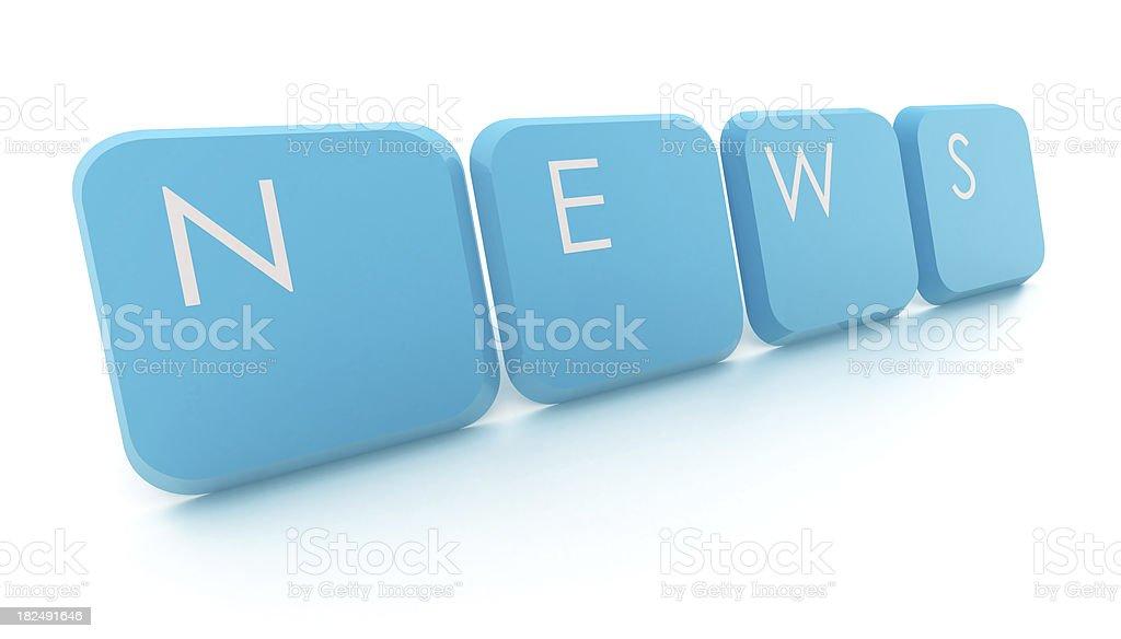 News - text with keys royalty-free stock photo