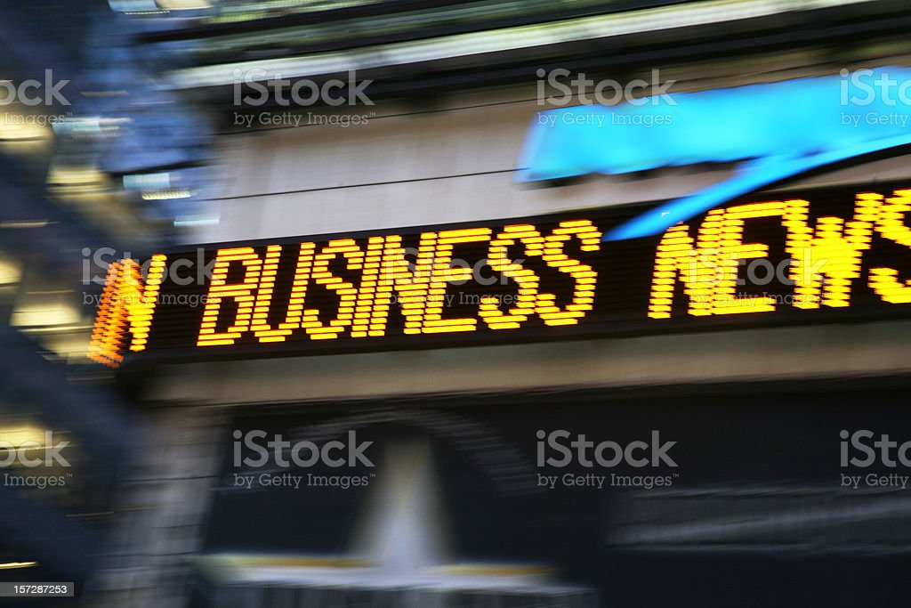 News Ticker Board In Times Square stock photo