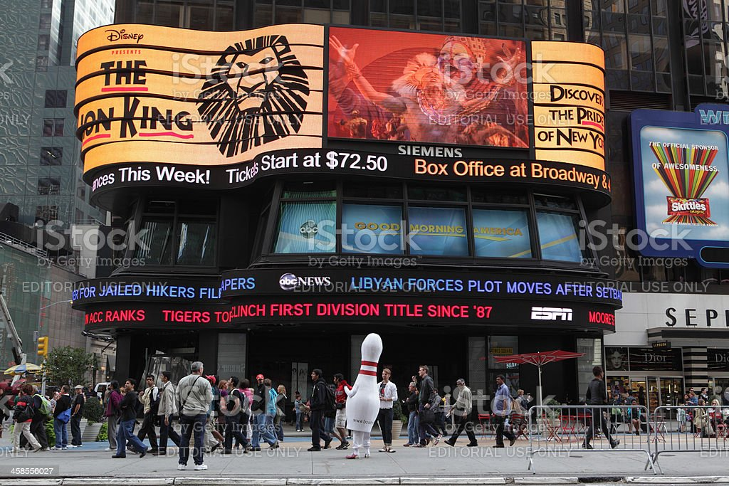 ABC News Times Square video display stock photo