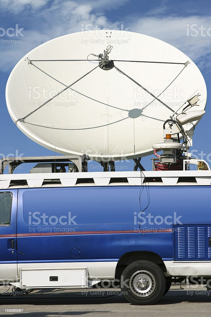 News Truck stock photo