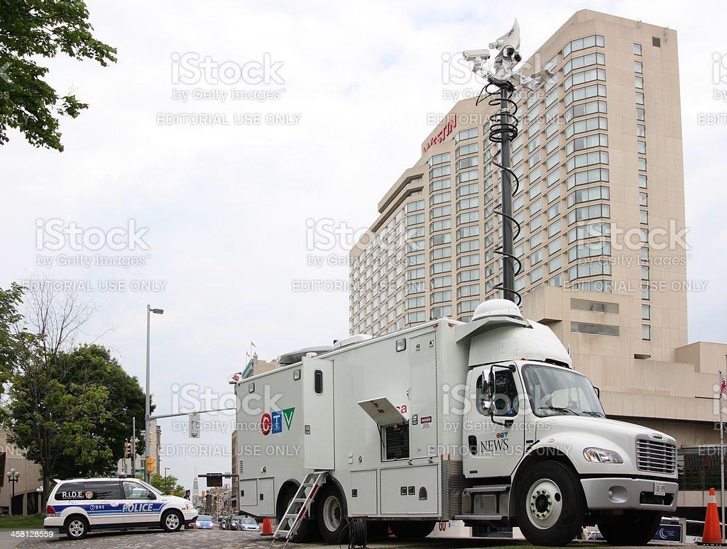 CTV News Truck stock photo