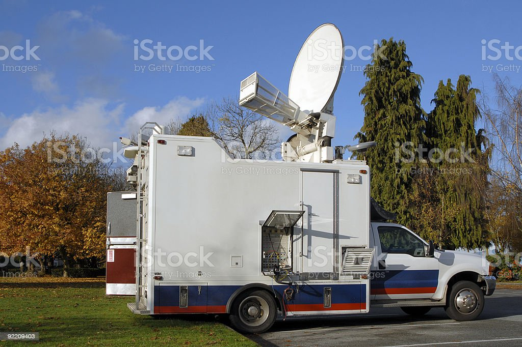TV News Truck royalty-free stock photo