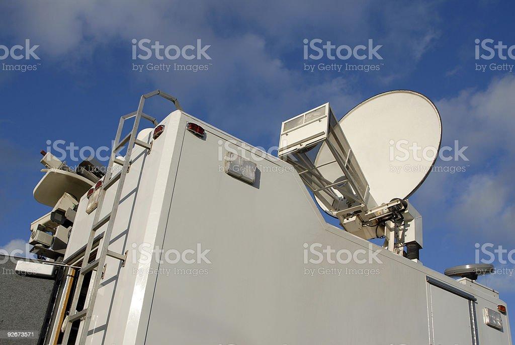 TV News Truck stock photo