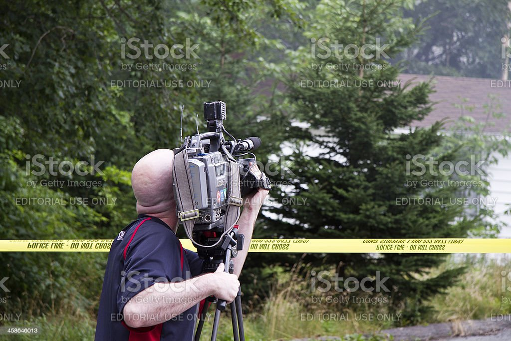 CTV News Videographer royalty-free stock photo