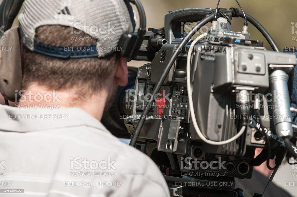 CBC News Videographer stock photo