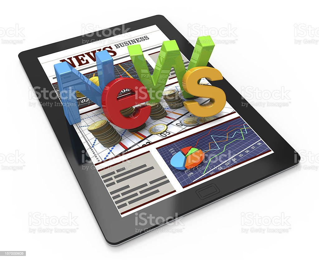 News Web page stock photo