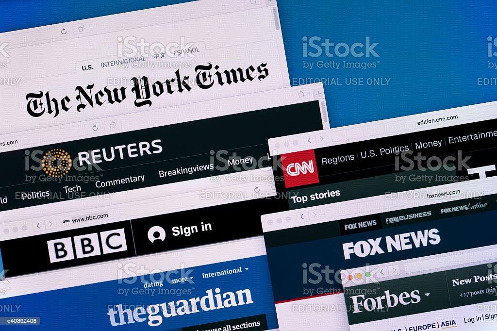 News Web Sites stock photo