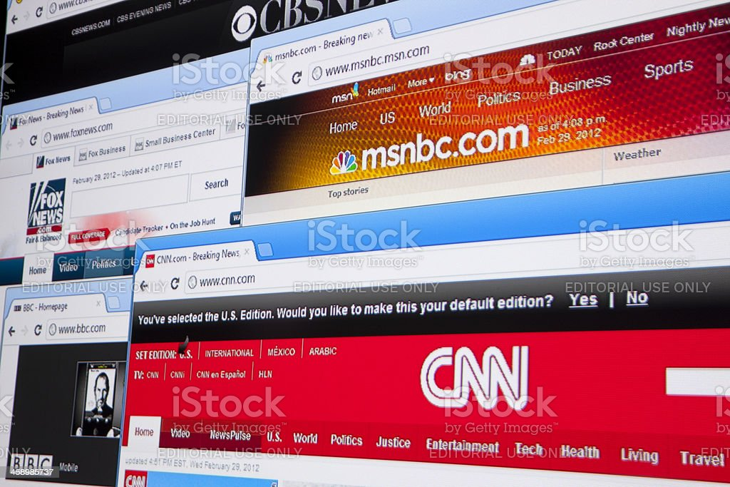 News Websites stock photo