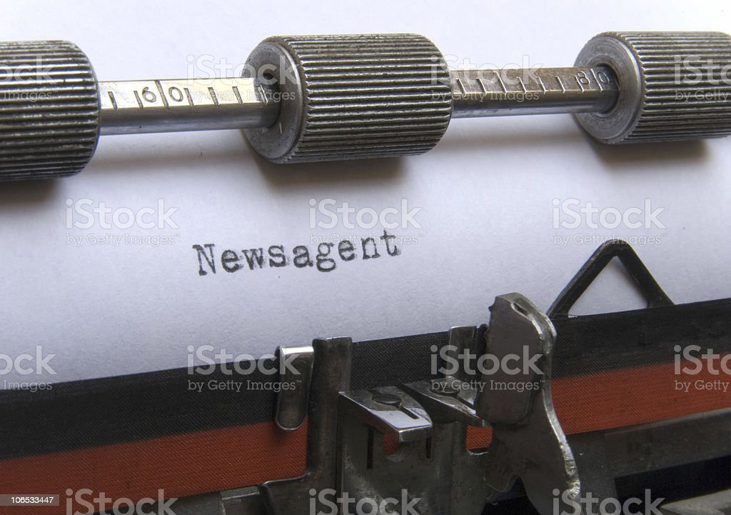 newsagent stock photo