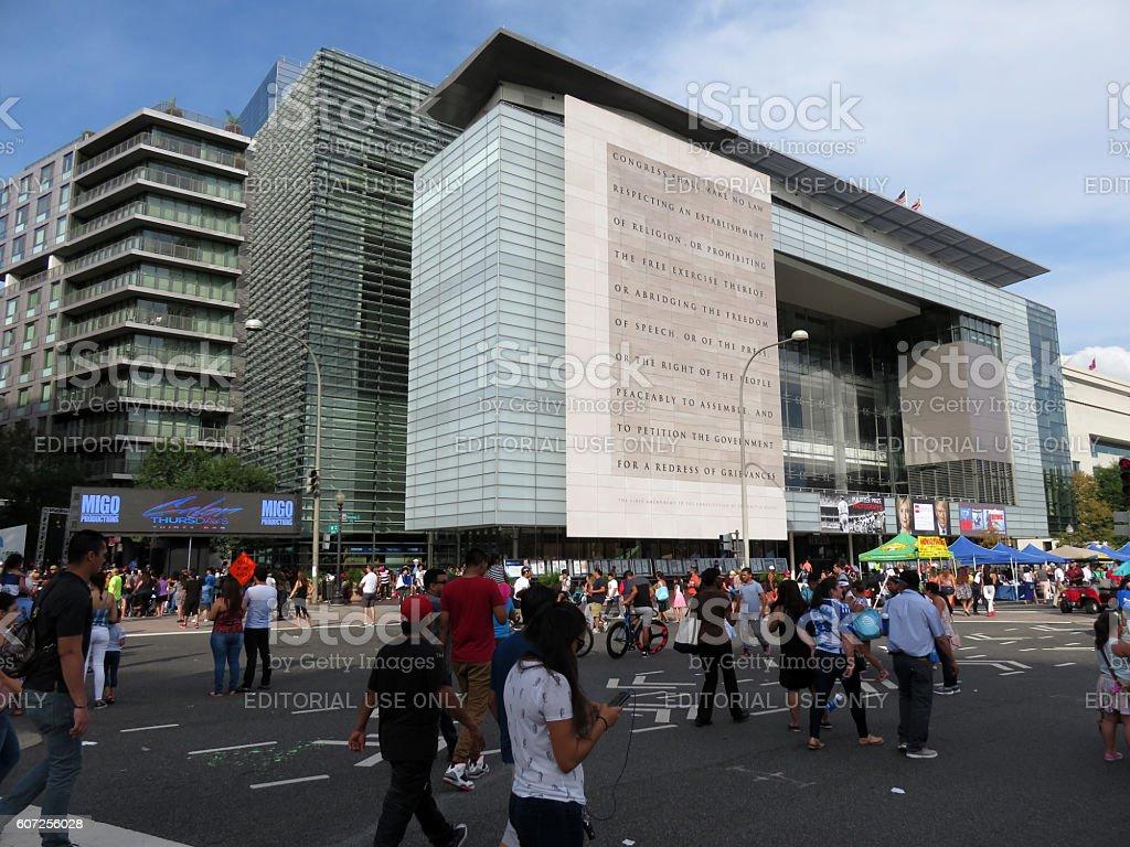 Newseum and Street Festival stock photo