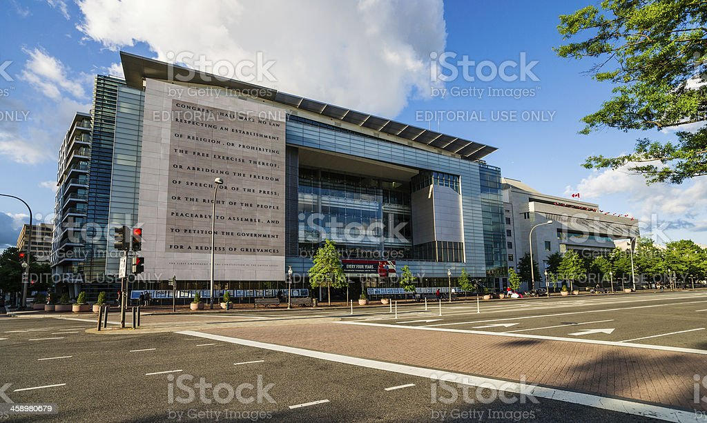Newseum Building on Pennsylvania Ave. in Washington, D.C. USA stock photo