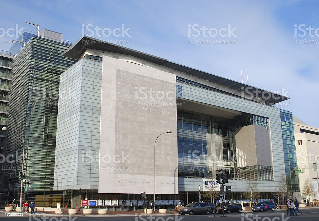 Newseum: Museum of News, Washington DC stock photo
