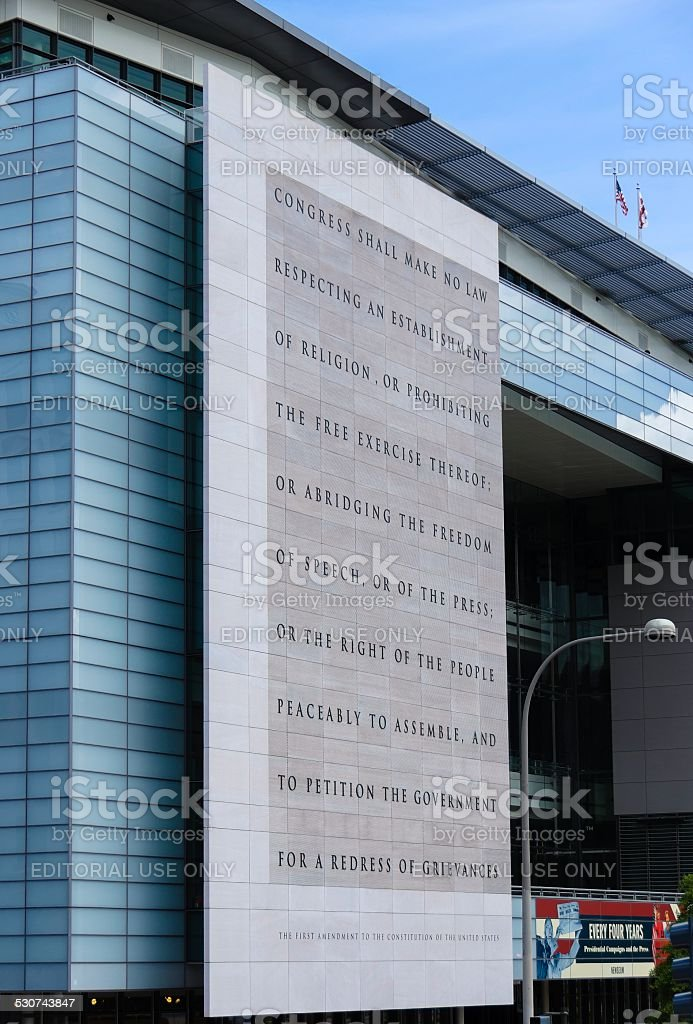 Newseum, Washington DC stock photo
