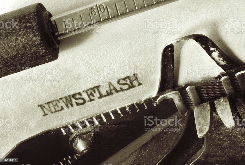 Newsflash stock photo