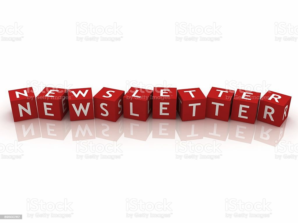 Newsletter Concept royalty-free stock photo