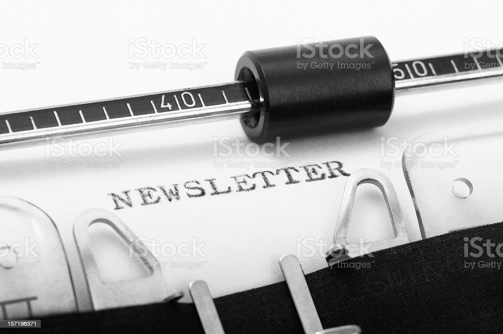 NEWSLETTER royalty-free stock photo