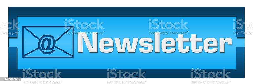 Newsletter Shaded Blue Blocks stock photo