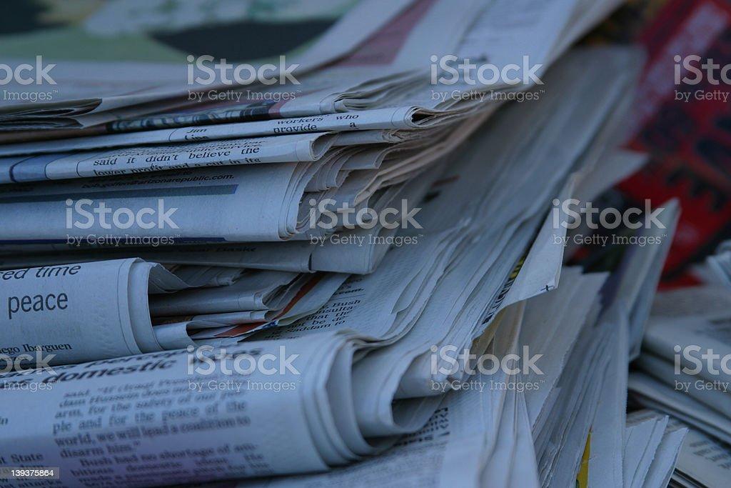Newspaper - 3065 stock photo