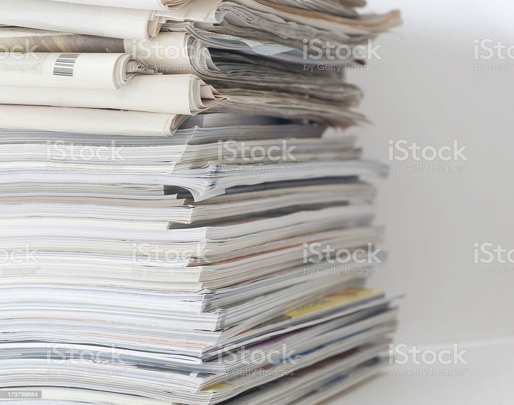 Newspaper and magazines royalty-free stock photo